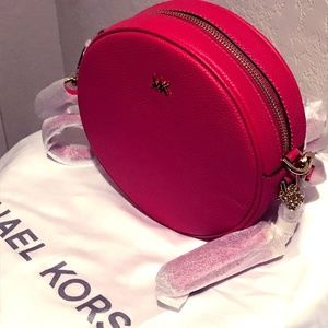 Michael Kors Canteen Leather Bag - Rose Pink